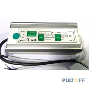 12V 5A , 60W, waterdicht  IP67 for led strip