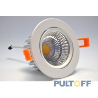 10W  inbouwspot Ф110mm COB LED Wit 4000K 220V Dimbaar